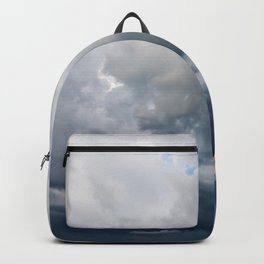 Rain Storm Clouds Gathering On Sky, Stormy Sky, Infinity, Wall Art Print Backpack