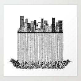 City with roots Art Print