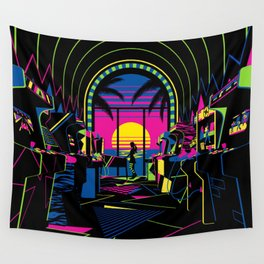 Arcade Saloon Wall Tapestry
