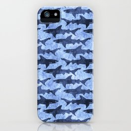 Blue Ocean Shark iPhone Case