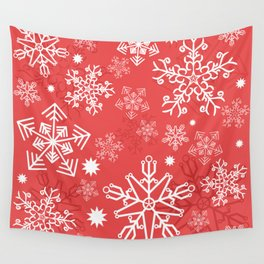 Christmas Snowflakes Wall Tapestry