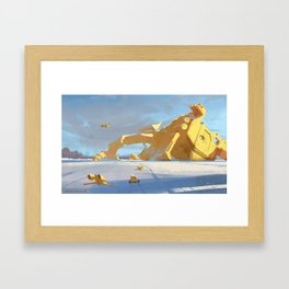 Fallen God Framed Art Print