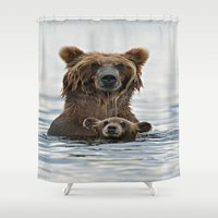 bears Shower Curtains featuring BEARS!!! by Donutwrangler