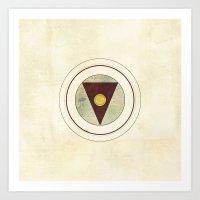 grunge Art Prints featuring Grunge by thinschi
