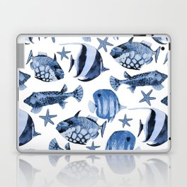 Fish Underwater Watercolor Pattern Laptop & iPad Skin