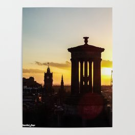Sunset from Calton Hill Poster