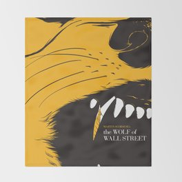 The Wolf of Wall Street | Fan Poster Design Throw Blanket