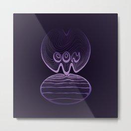 Moon Typography - Ultra Violet Metal Print