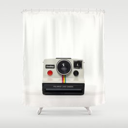 Polaroid Instant Camera Shower Curtain