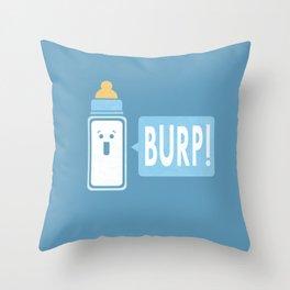 Burp (Blue) Throw Pillow