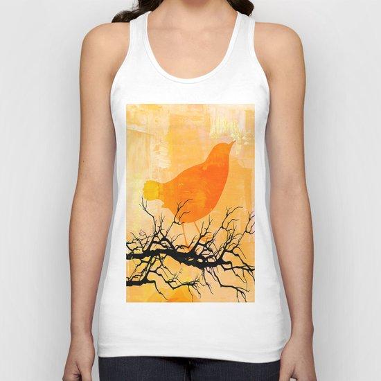 Orange Bird  Unisex Tank Top