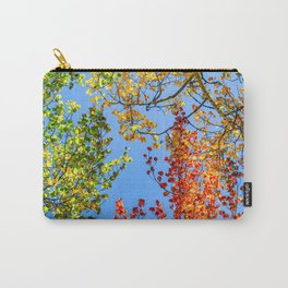Aspen Color Candy // Green Yellow Red and Orange Fall Leaf Colors Carry-All Pouch