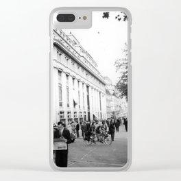 Vintage city Street Scene Clear iPhone Case