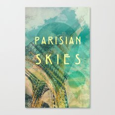 Songs and Cities: Parisian Skies Canvas Print