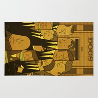reservoir dogs Area & Throw Rugs featuring Reservoir Dogs by Ale Giorgini