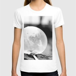 Black and White Frozen Bubble T-shirt