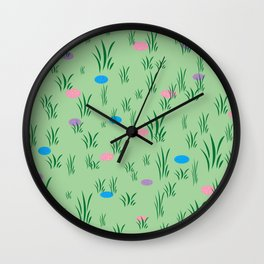 Spring Egg Hunt Wall Clock
