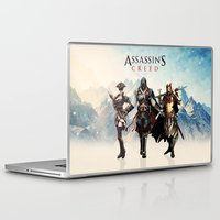 assassins creed Laptop & iPad Skins featuring Assassins Creed Attack by bivisual