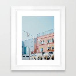 Venice Beach Sign in Los Angeles Framed Art Print