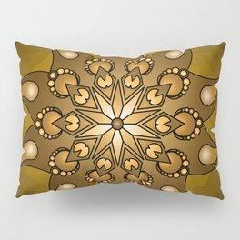 Pure gold mandala Pillow Sham