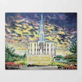 Seattle Washington LDS Temple Canvas Print