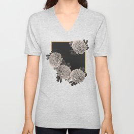 Flowers on a winter night Unisex V-Neck