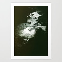 I'm still here at the water's edge. Art Print
