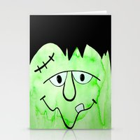frankenstein Stationery Cards featuring Frankenstein by HollyJonesEcu