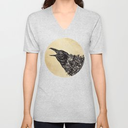 CROW-ded Unisex V-Neck