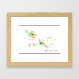 Anzac Map I Framed Art Print