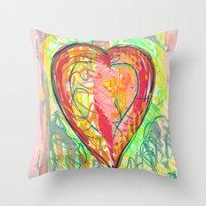 torn heart Throw Pillow