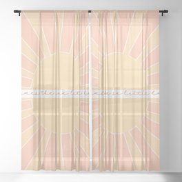 Here Comes The Sun, Little Darling / Original Print Sheer Curtain
