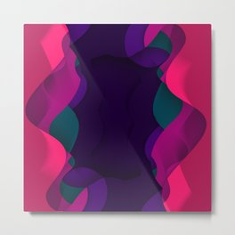 Curved abstract art Metal Print