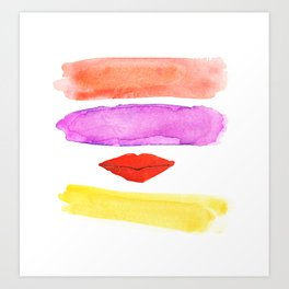 bright lips, big city I Art Print