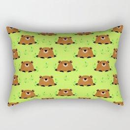 Adorable Groundhog Pattern Rectangular Pillow