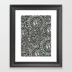 Doily Collection Framed Art Print