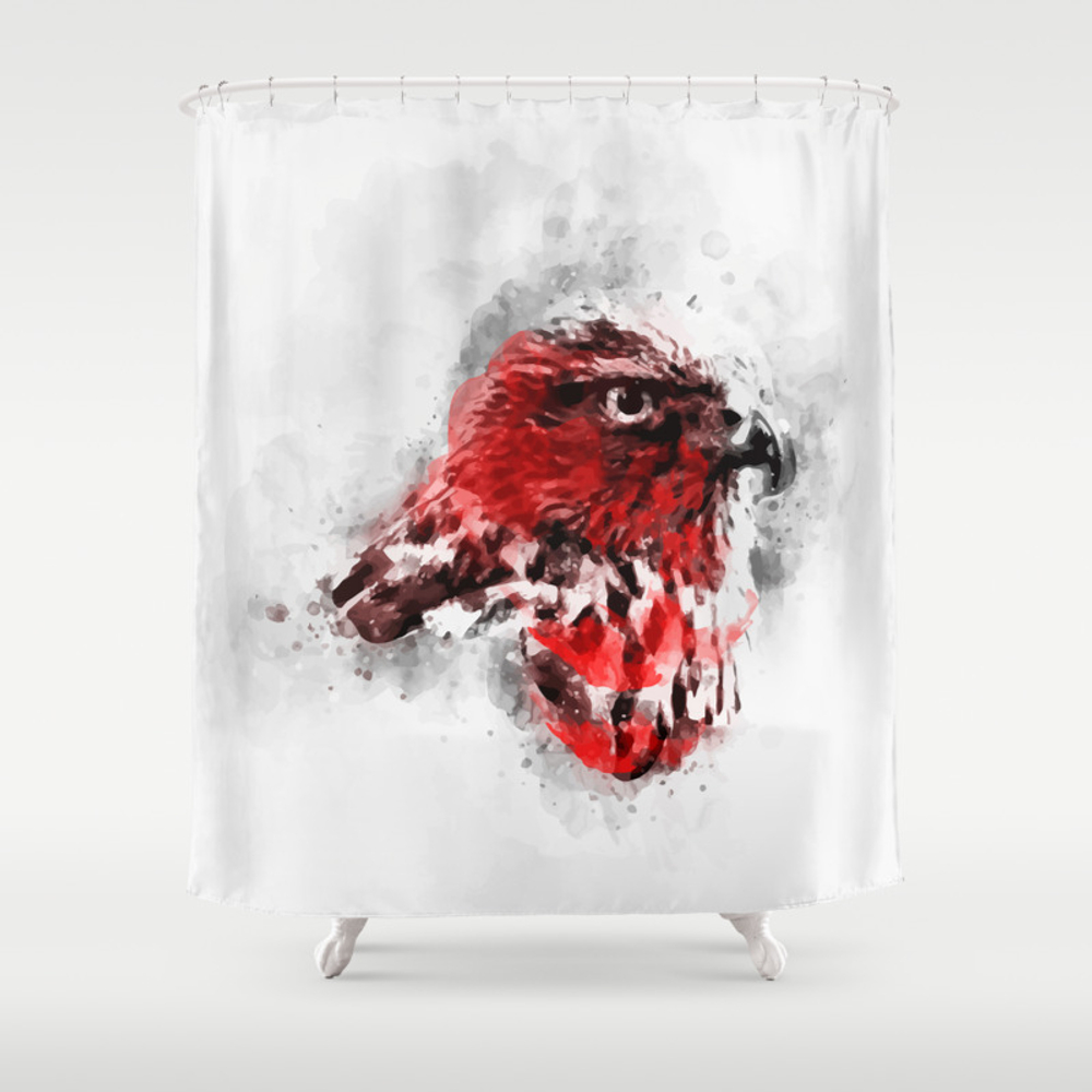 Redbreast Shower Curtain by Maioriz (CTN7893034) photo