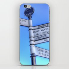 Edinburgh Castle Directions Post iPhone & iPod Skin