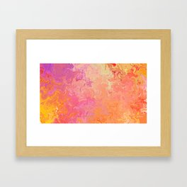 Swirling Warm Paint Colors Framed Art Print