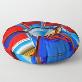 Blue propeller Floor Pillow
