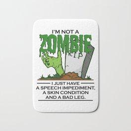 Zombie Halloween Art for Handicaps & Skin Disorder Light Bath Mat