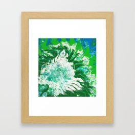Fading Earth Framed Art Print