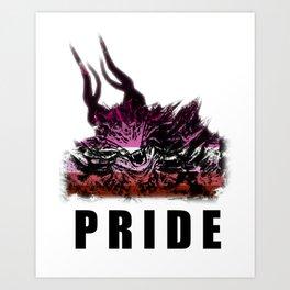 Lesbian Pride Demon Art Print