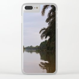 Jungle View of The Pacuare River Clear iPhone Case
