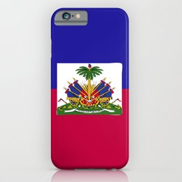 Haiti flag emblem iPhone Case