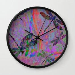 Dragonfly Opal Wall Clock