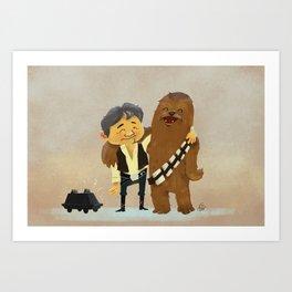 Han & Chewie BFFs Art Print