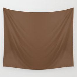 Toffee Pantone fashion pure color trend Spring/Summer 2019 Wall Tapestry