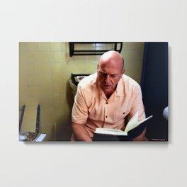 Hank Schrader sitting on WC - TV Serie Breking Bad Metal Print