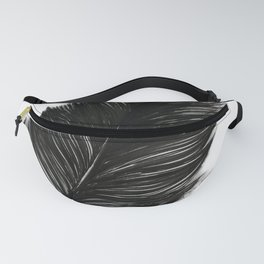 Psalm 91:4 Black Feather Fanny Pack